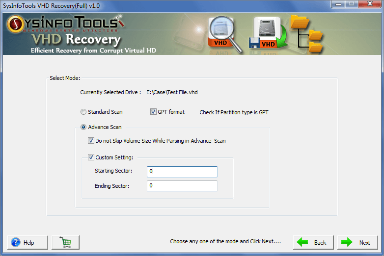 VHD File Recovery full screenshot