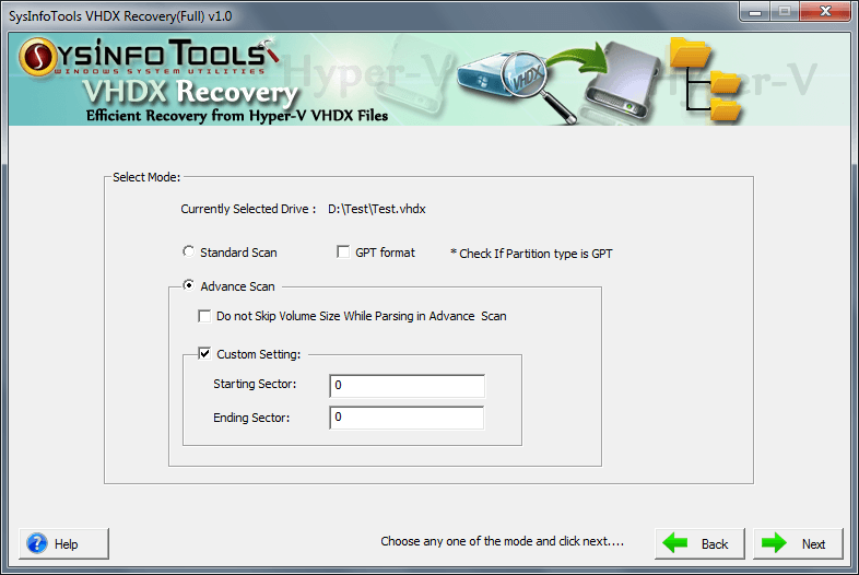 Windows 7 VHDX File Recovery 3.02 full