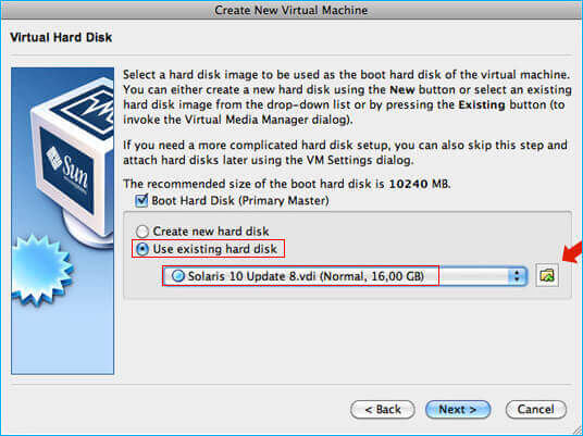 open vdi iin virtualbox