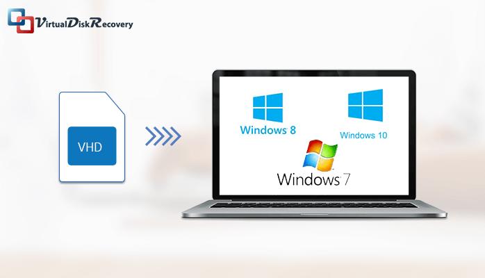 Easily Open vhd file in windows 10, 8, 7