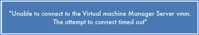 Virtual machine error