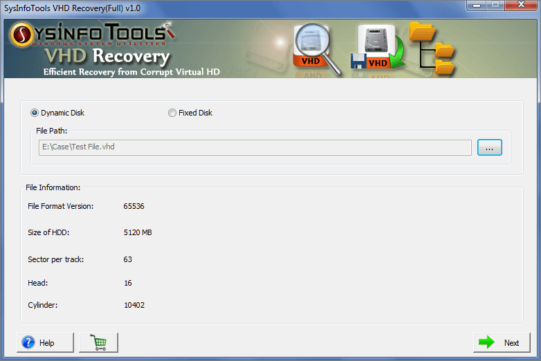 VHD Recovery Freeware
